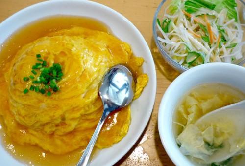 餃子 たつみ 天津飯・ぎょうざセット