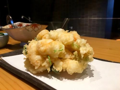割烹・天ぷら よこい かき揚げ定食(1500円)