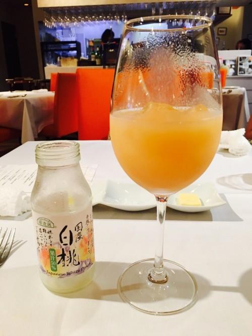 Bistro Dia(ビストロ ダイア)国産の白桃ジュース