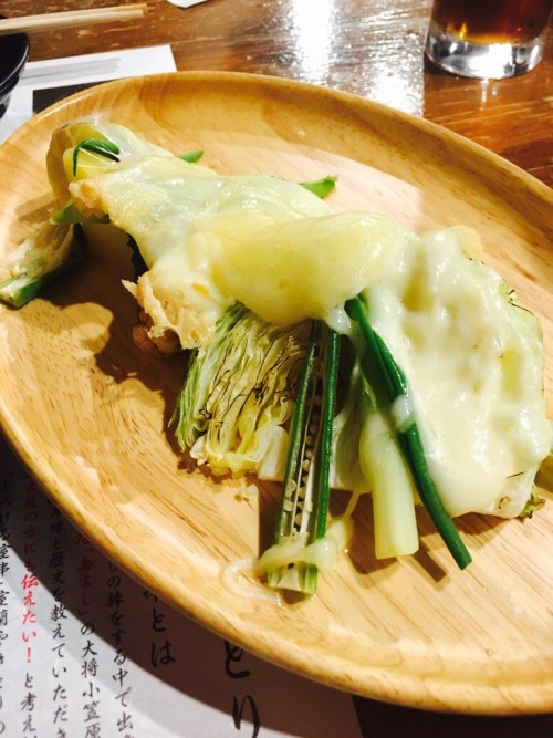 毎日!北海道物産展 ネオ炉端 道南農林水産部 温野菜のラクレットチーズかけ