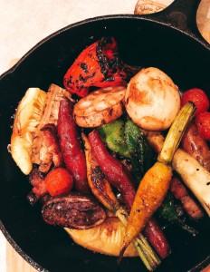 農園直送野菜のスキレット焼き