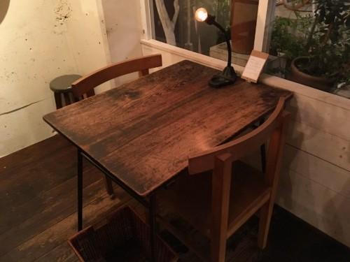 aoiku_cafe(アオイクカフェ) テーブル