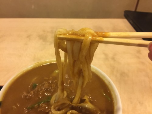 うどんの麺はお店自家製の手打ち麺