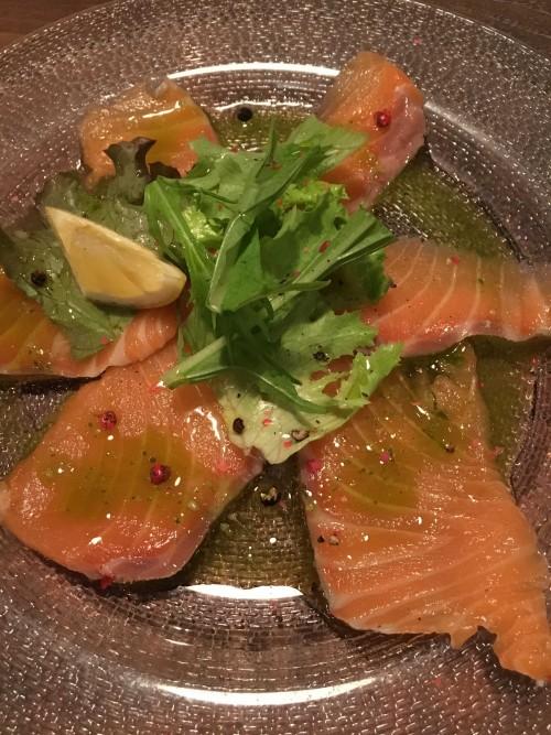 本日の鮮魚のカルパッチョ780円