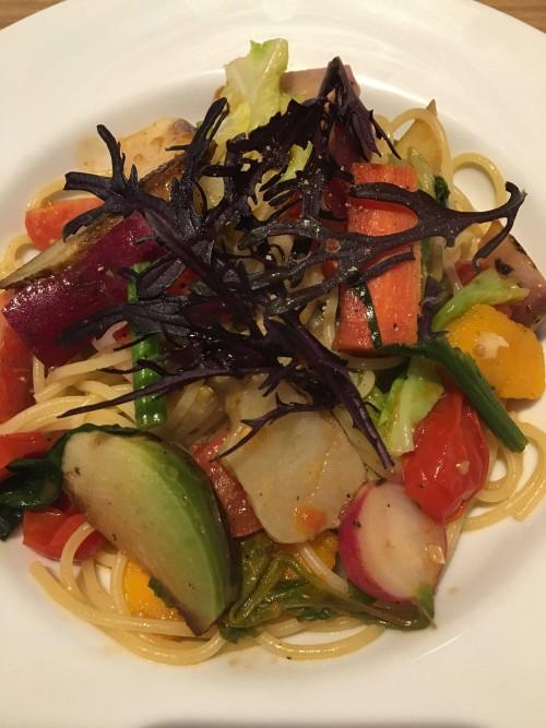 「季節野菜たっぷりのオイルソース スパゲッティーニ」