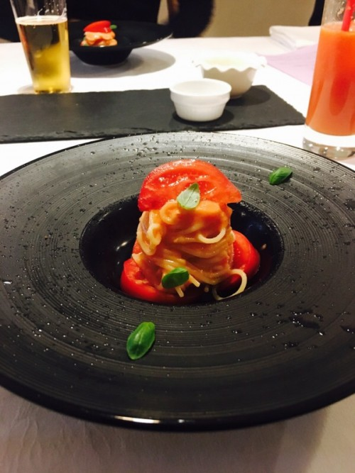 フルーツトマトの冷静カッペリーニ