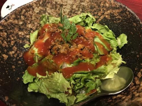 野菜タコライス