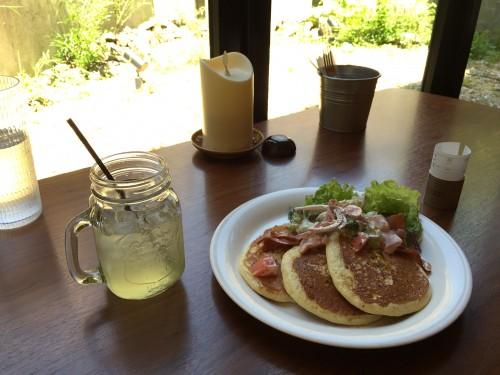 Cafe downey California brunch pancake ¥1150