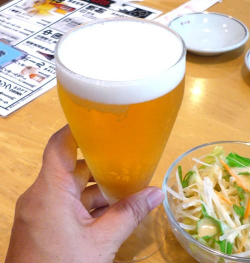 餃子 たつみ ビール