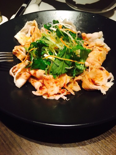 中華料理 吉珍樓(キッチンロウ)茹で豚のサラダにんにくソース