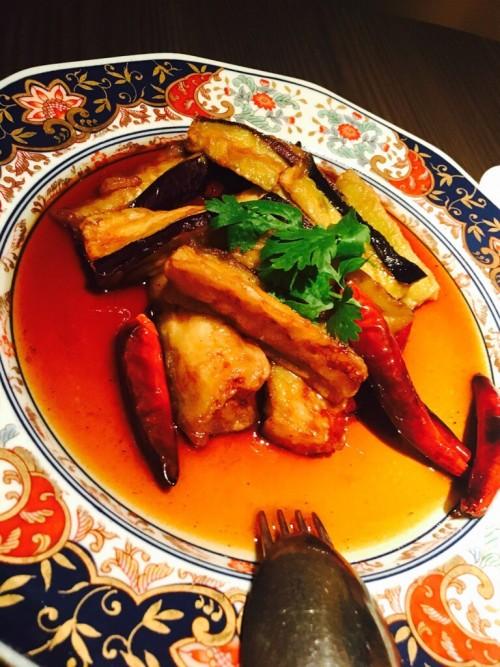中華料理 吉珍樓(キッチンロウ)揚げナスのピリ辛炒め