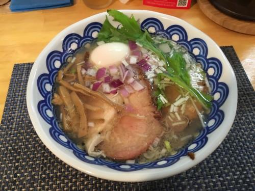 でら 丸鶏と魚「貝」の中華そば ¥1000