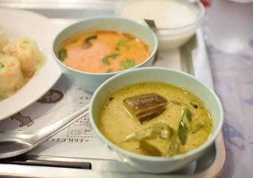 グリーンカレー・鶏のトムヤムスープ