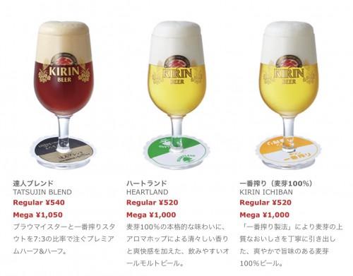ご当地ビール メニュー3