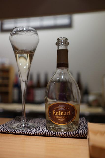 シャンパンのミニボトル