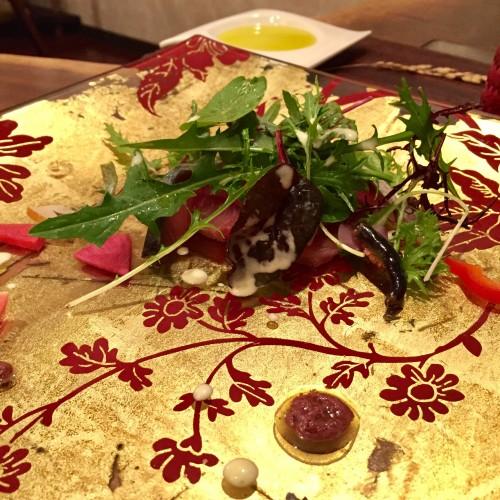 マグロと鯖のカルパッチョ