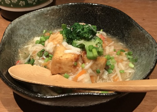 揚げ豆腐の中華風カニあんかけ