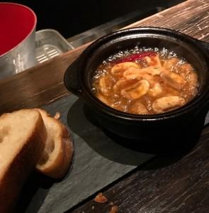 赤海老とマッシュルームのアヒージョ