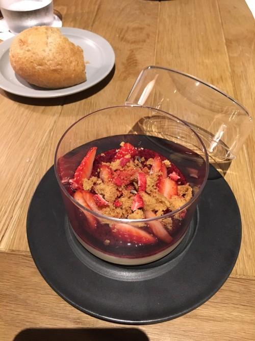 苺とクリームチーズのヴェリーヌ