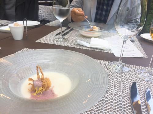 ストリングスプリフィックス 新玉葱のブルーテ 古代米麹のエスプーマ