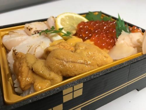 北海道産3種丼