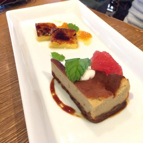 ジャスミンティーのチーズケーキとカタラーナ