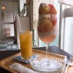 八事|隠れ家カフェでいただく、桃の美味しさがたくさん詰まったパフェ