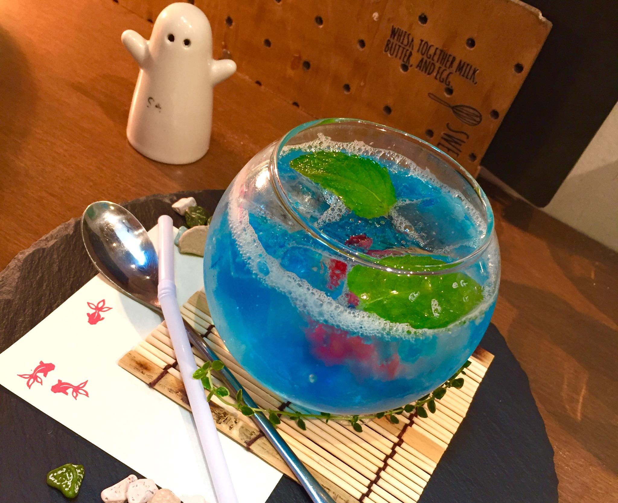昭和区御器所|金魚鉢?フォトジェニックなスィーツやドリンクが楽めるカフェ♪