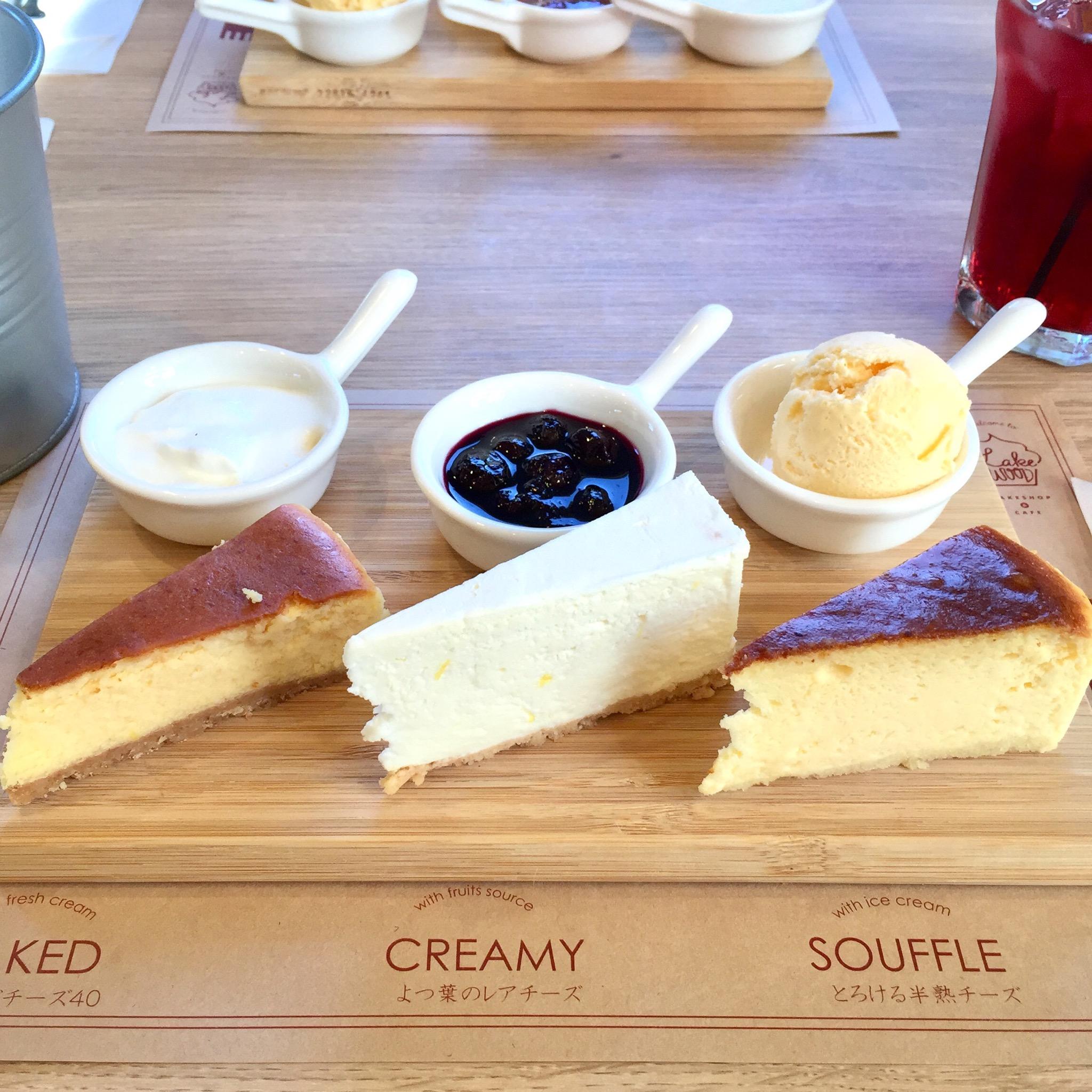 植田|ケーキフライト?食べ比べスイーツが大人気のカフェ