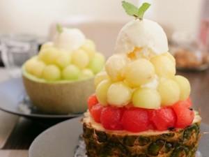 荒畑|ボリューム満点ランチと丸ごとフルーツを使ったかき氷が食べられるカフェ