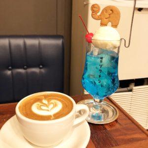 亀島|クリームソーダとクッキーがレトロかわいい人気喫茶店