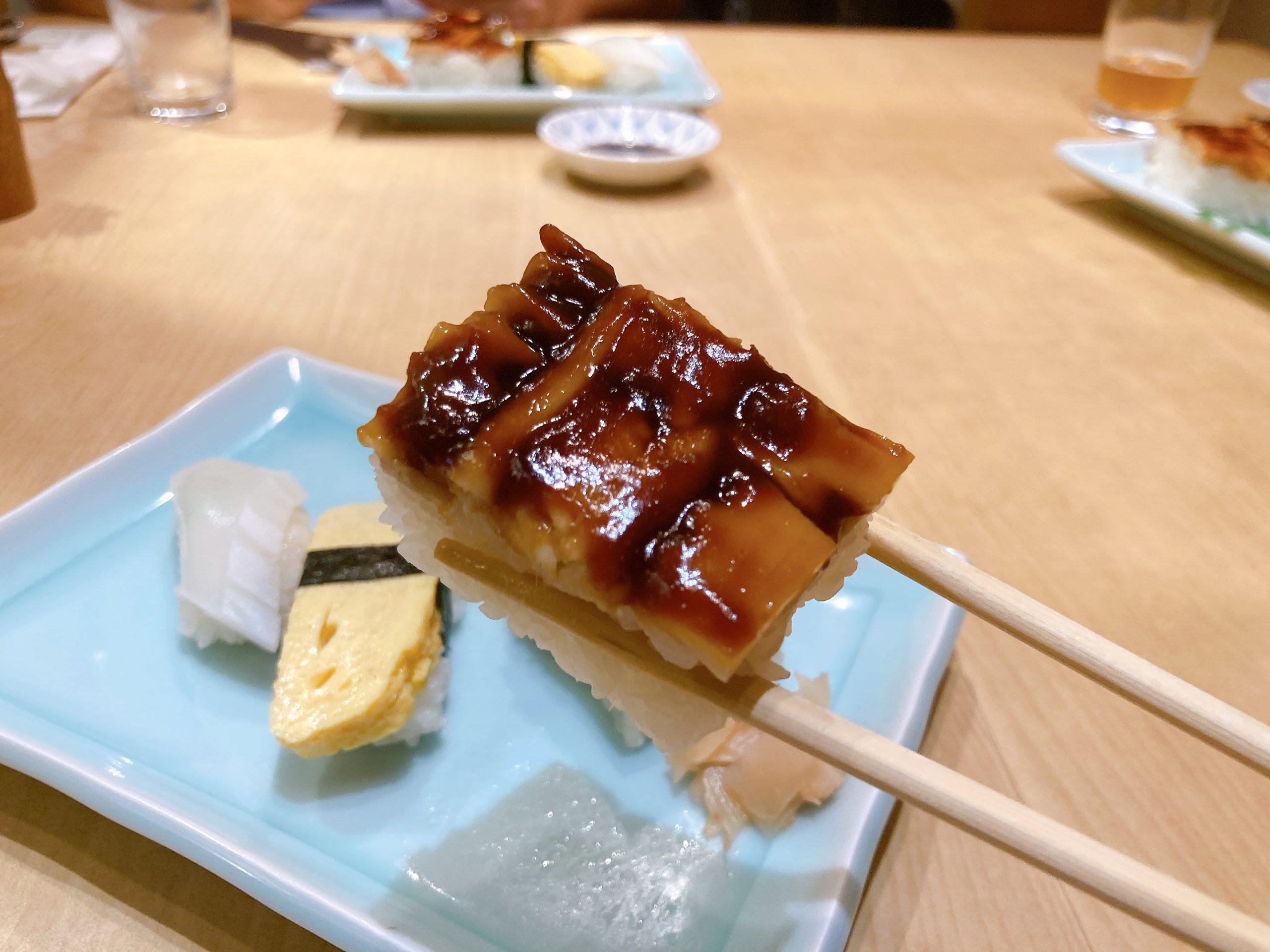 アナゴの切寿司が人気