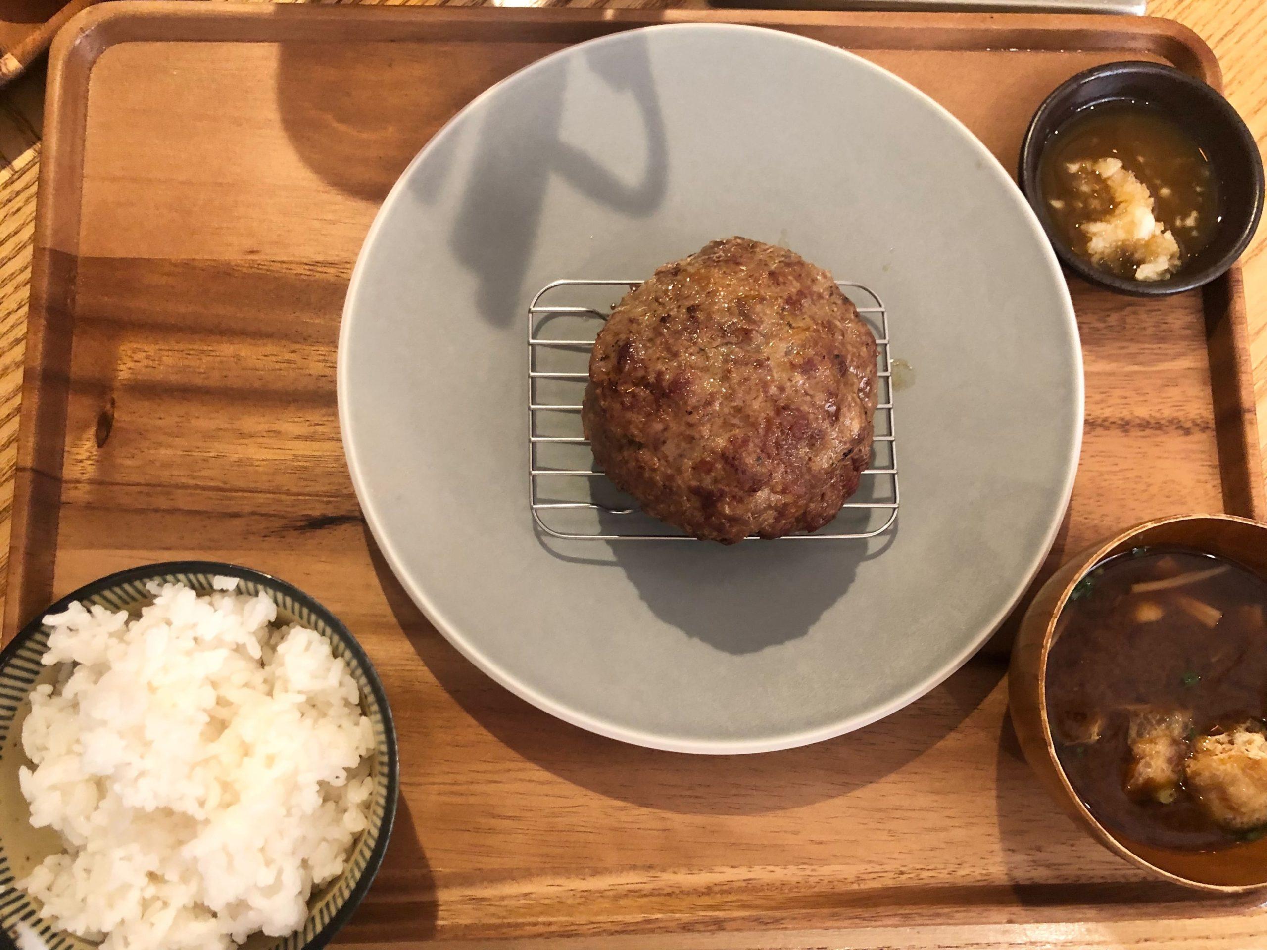 挽肉のトリコの「究極のハンバーグ定食」